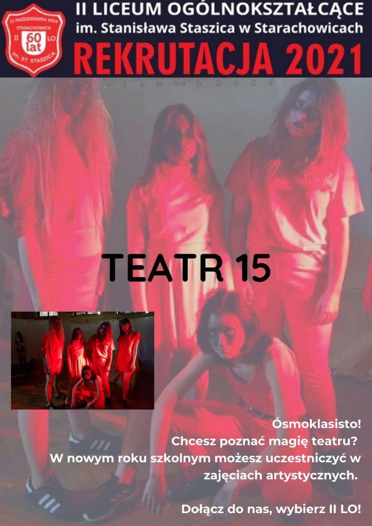 Plakat promocyjny - TEATR 15