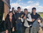 Chłopcy z klasy 1d nad Zalewem