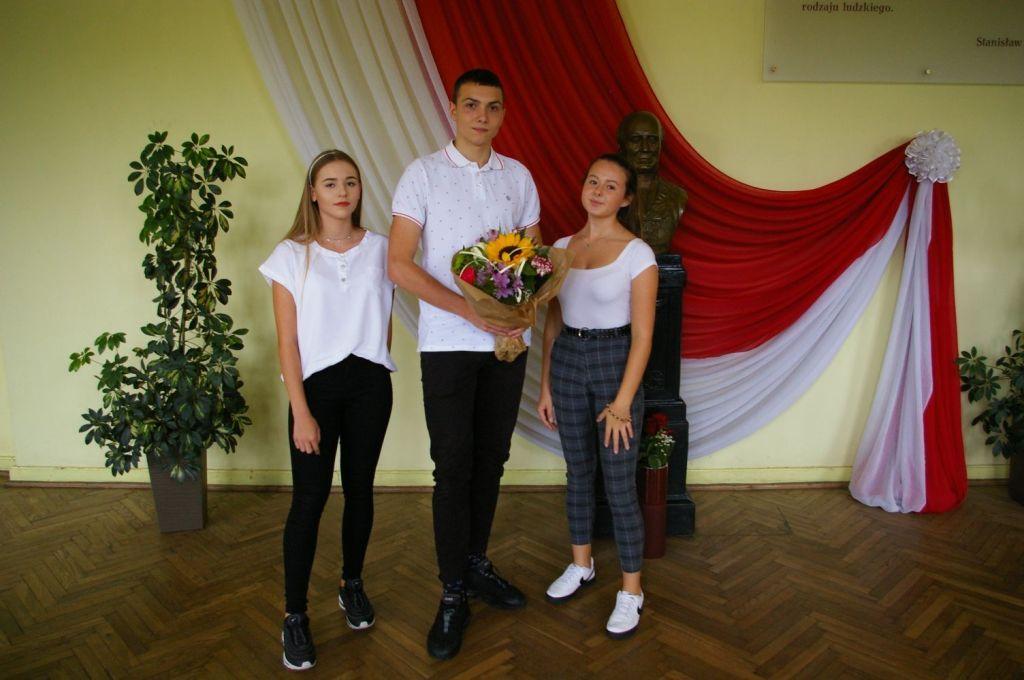 Na zdjęciu: Zuzanna Sikora, Filip Przepiórka, Aleksandra Glina