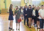 Ślubowanie klas pierwszych - klasa 1d z wychowawcą