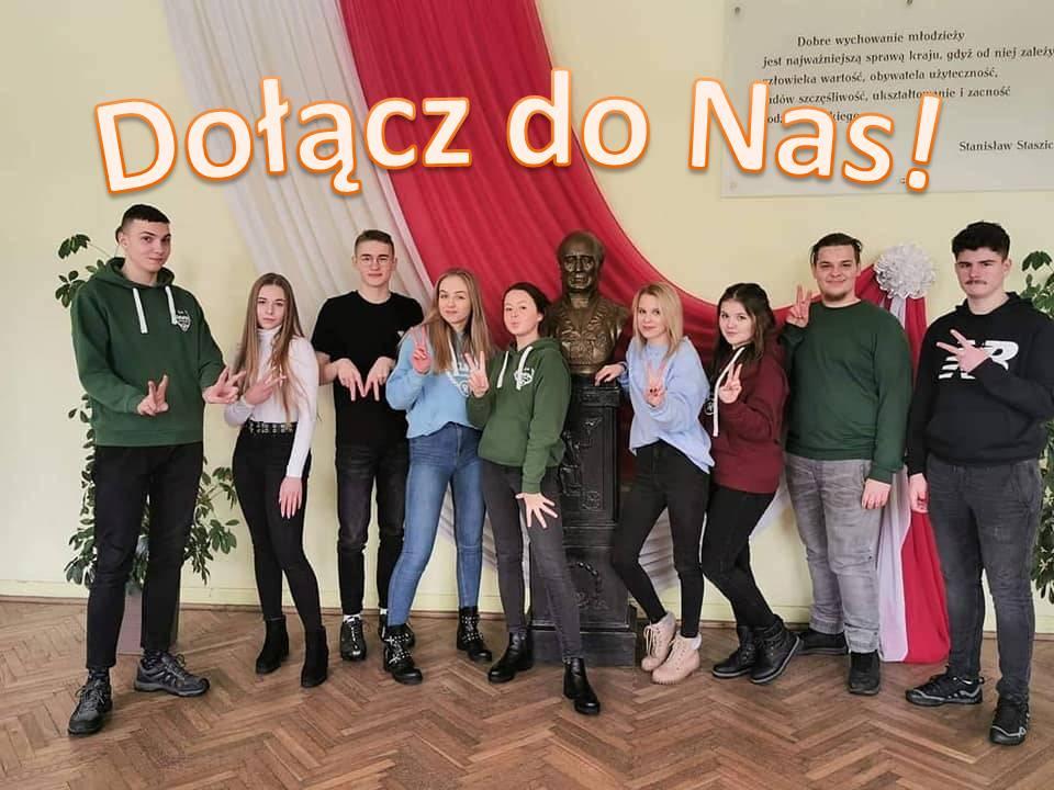 Na zdjęciu członkowie Samorządu Szkolnego